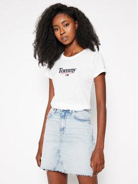 Tommy Jeans Tommy Jeans T-shirt Essential DW0DW08928 Bianco Slim Fit