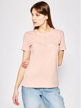 Superdry Superdry Тишърт Outline Entry Tee W1010057A Розов Slim Fit