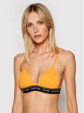 Calvin Klein Swimwear Calvin Klein Swimwear Góra od bikini Wb-Triangle-Rp KW0KW01409 Pomarańczowy