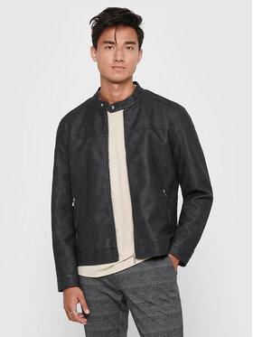 Only & Sons Only & Sons Veste en simili cuir Jasper 22016572 Gris Regular Fit