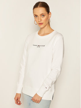 Tommy Hilfiger Tommy Hilfiger Суитшърт Essential WW0WW28220 Бял Loose Fit