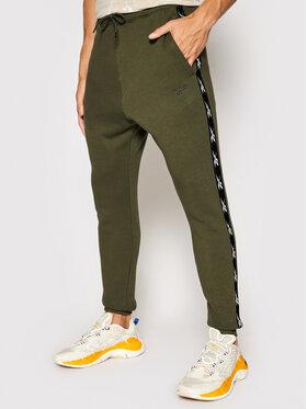 Reebok Reebok Spodnie dresowe Essentials Tape GQ4216 Zielony Regular Fit