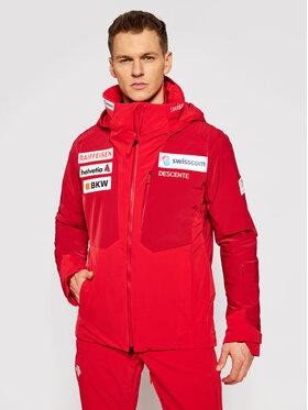 Descente Descente Giacca da sci DWMQGK93 Rosso Regular Fit