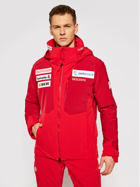 Descente Descente Kurtka narciarska DWMQGK93 Czerwony Regular Fit