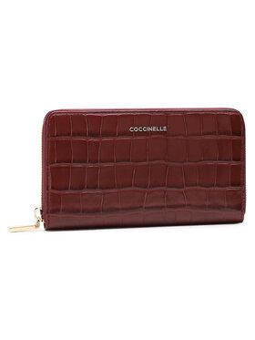 Coccinelle Coccinelle Duży Portfel Damski HW6 Metallic Croco Shiny Soft E2 HW6 11 32 01 Bordowy
