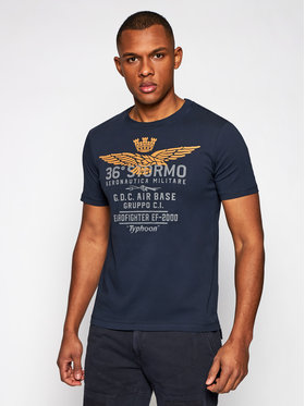 Aeronautica Militare Aeronautica Militare T-shirt 211TS1867J492 Bleu marine Regular Fit