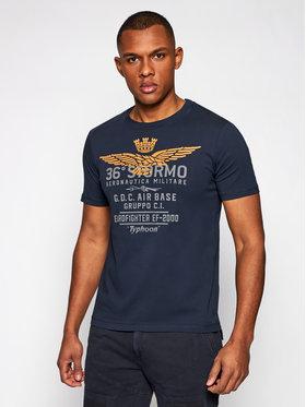 Aeronautica Militare Aeronautica Militare T-Shirt 211TS1867J492 Granatowy Regular Fit