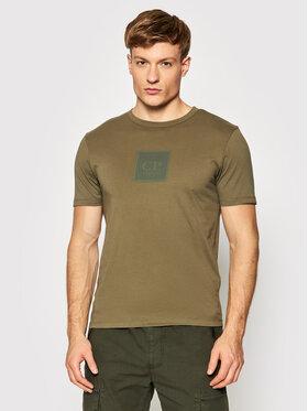 C.P. Company C.P. Company T-Shirt Logo 11CMTS044A 005100W Zielony Regular Fit