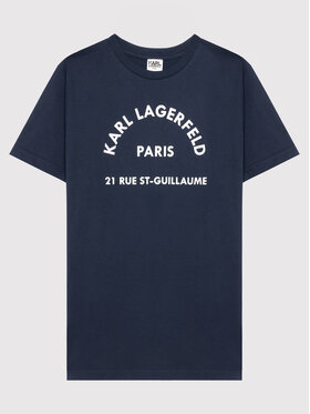 KARL LAGERFELD KARL LAGERFELD T-Shirt Z25316 D Granatowy Regular Fit