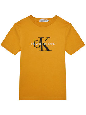 Calvin Klein Jeans Calvin Klein Jeans Тишърт Monogram Logo IU0IU00068 Жълт Regular Fit