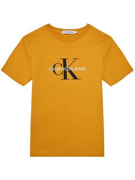 Calvin Klein Jeans Calvin Klein Jeans Tričko Monogram Logo IU0IU00068 Žltá Regular Fit