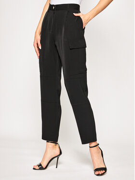 Calvin Klein Calvin Klein Παντελόνι υφασμάτινο Soft Cargo K20K201768 Μαύρο Regular Fit