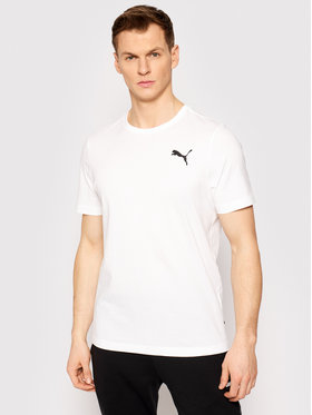 Puma Puma T-Shirt Ess Small 586668 Weiß Regular Fit