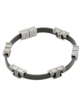 Tory Burch Tory Burch Bransoletka Serif-T Stackable Bracelet 80702 Czarny