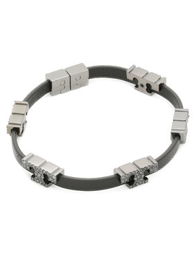 Tory Burch Tory Burch Náramok Serif-T Stackable Bracelet 80702 Čierna