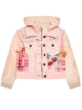 Desigual Desigual Prijelazna jakna Bustingorri 21SGED03 Ružičasta Regular Fit
