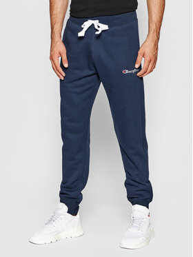 Champion Champion Pantaloni da tuta Blend Small Script Logo 216479 Blu scuro Regular Fit