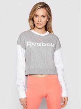 Reebok Reebok Суитшърт Linear Logo GN5419 Сив Oversize