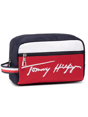 Tommy Hilfiger Tommy Hilfiger Geantă pentru cosmetice Signature Washbag AM0AM07293 Bleumarin