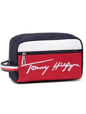Tommy Hilfiger Tommy Hilfiger Kosmetiktasche Signature Washbag AM0AM07293 Dunkelblau
