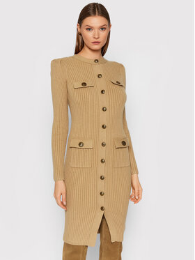Elisabetta Franchi Elisabetta Franchi Džemper haljina AM-44G-16E2-V290 Smeđa Slim Fit
