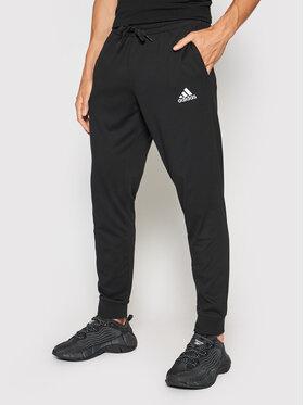 adidas adidas Sportinės kelnės Essentials Single GK9226 Juoda Regular Fit