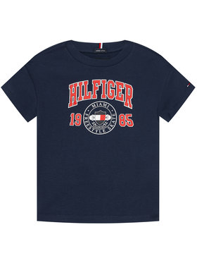 Tommy Hilfiger Tommy Hilfiger T-Shirt Artwork KB0KB06519 M Granatowy Regular Fit