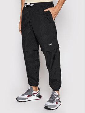 Reebok Reebok Kalhoty z materiálu Myt Woven GT5785 Černá Relaxed Fit
