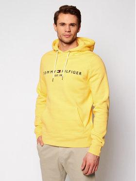 Tommy Hilfiger Tommy Hilfiger Majica dugih rukava Logo MW0MW11599 Žuta Regular Fit