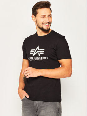 Alpha Industries Alpha Industries T-Shirt Basic 100501 Czarny Regular Fit