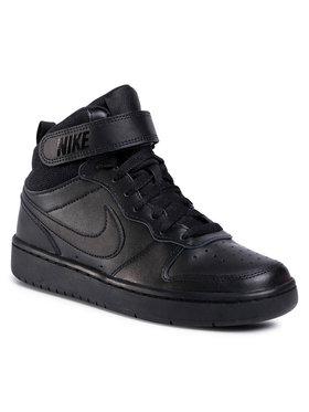 Nike Nike Обувки Court Borough Mid 2 (GS) CD7782 001 Черен