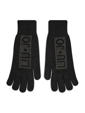 Liu Jo Liu Jo Дамски ръкавици Guanto Pave Logo St 3F1014 M0300 Черен