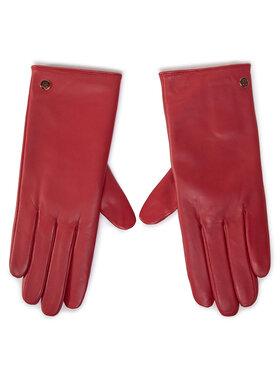 Tommy Hilfiger Tommy Hilfiger Rękawiczki Damskie Th Gloves AW0AW08944 Czerwony
