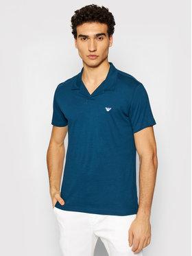 Emporio Armani Emporio Armani Тениска с яка и копчета 211837 1P472 03083 Син Regular Fit