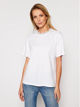 Victoria Victoria Beckham Victoria Victoria Beckham T-Shirt Single 2121JTS002392A Biały Regular Fit