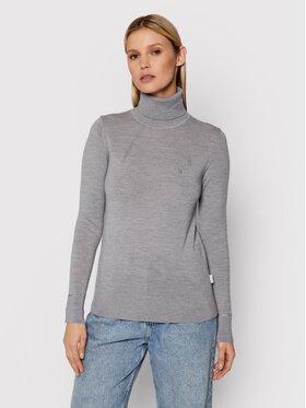 Calvin Klein Calvin Klein Bluză cu gât K20K203202 Gri Slim Fit