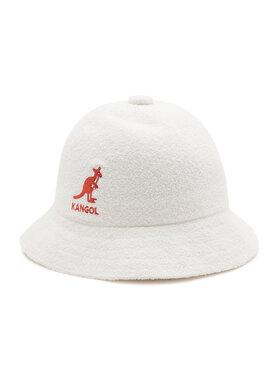Kangol Kangol Cappello Bucket Big Logo Casual K3407 Bianco