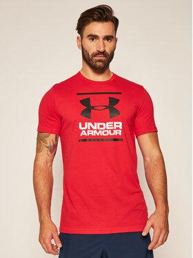 Under Armour Under Armour Marškinėliai Ua Gl Foundation 1326849 Raudona Loose Fit
