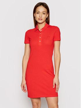 Lacoste Lacoste Kleid für den Alltag LACOSTE-EF5473 Rot Slim Fitq