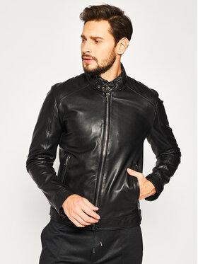 Joop! Joop! Kožená bunda Peel 1500130 Černá Slim Fit