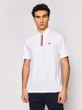 Tommy Hilfiger Tommy Hilfiger Тениска с яка и копчета MW0MW17270 Бял Relaxed Fit