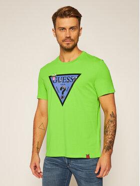 Guess Guess T-Shirt Monster M0YI51 I3Z00 Zelená Regular Fit