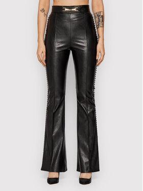 Elisabetta Franchi Elisabetta Franchi Pantalon en simili cuir PA-380-16E2 Noir Regular Fit