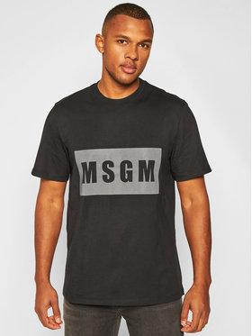 MSGM MSGM T-Shirt 2940MM197 207598 Czarny Regular Fit