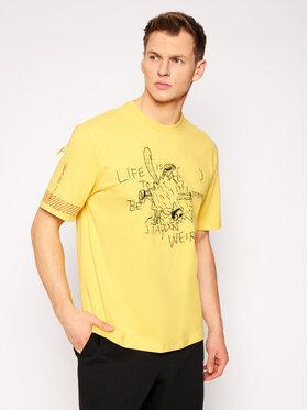 Puma Puma Marškinėliai MICHAEL LAU 2Sho Tee 530361 Geltona Regular Fit