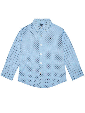 TOMMY HILFIGER TOMMY HILFIGER Camicia Mini Flag KB0KB06181 D Blu Regular Fit