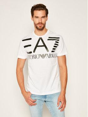 EA7 Emporio Armani EA7 Emporio Armani T-Shirt 6HPT06 PJ02Z 1100 Weiß Regular Fit