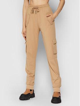 Noisy May Noisy May Spodnie dresowe Palma 27015702 Brązowy Regular Fit