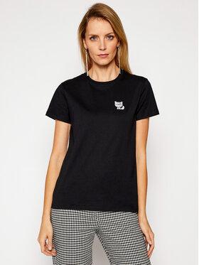 KARL LAGERFELD KARL LAGERFELD T-Shirt Mini 3 Ikonik Choupette Tee 210W1728 Černá Regular Fit