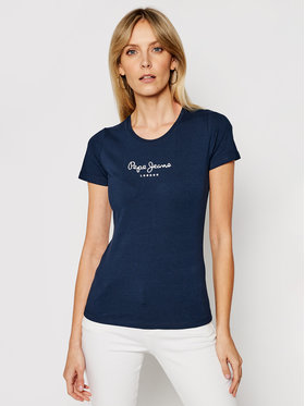 Pepe Jeans Pepe Jeans T-Shirt PL502711 Granatowy Slim Fit